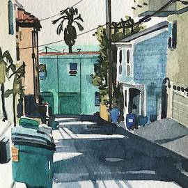 Manhattan Beach Alley #4 by Luisa Millicent