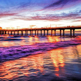 Manhattan Beach Pier Sunset by Christopher Arndt