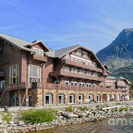 Many Glacier Hotel by Catherine Sherman