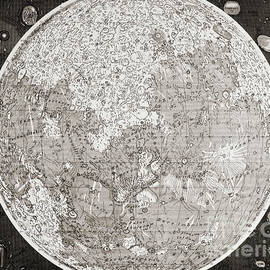 Map Of The Moon Produced In The 1830s by German School