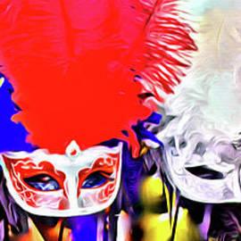 Mardi Gras Masks New Orleans by Jerome Stumphauzer