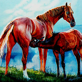 Mare With Foal by Hanne Lore Koehler