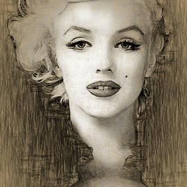 Marilyn Monroe Pencil drawing by Joaquin Abella