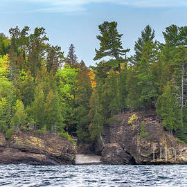 Marquette Black Rocks Autumn Colors -7142 by Norris Seward