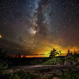 Brent L Ander - Mars and the Milky Way over Schoodic