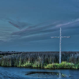Marsh Cross At Dusk by Jerry Gammon