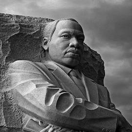 Martin Luther King Jr Monument B and W by Maria Keady