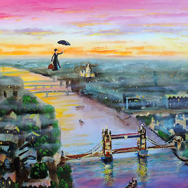 Mary Poppins London by Gordon Bruce