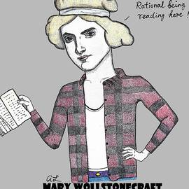 Mary Wollstonecraft At The Library by Addie Luo
