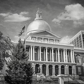 Massachusetts State House Boston Black and White