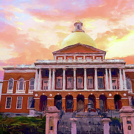 Massachusetts State House #painting #painterly #architecture by Andrea Anderegg