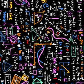 Math Linear Mathematics  Education Circle Background With Geomet by Tony Rubino