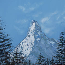 Matterhorn forest view oil painting by Nino Ponditerra