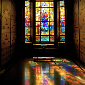 Mausoleum Stained Glass 01 SQ Format by Thomas Woolworth