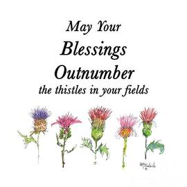 May Your Blessings By Kmcelwaine De011 by Kathleen McElwaine