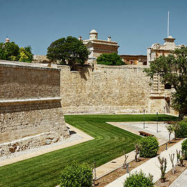 Mdina Moat and Old Walls by Sally Weigand