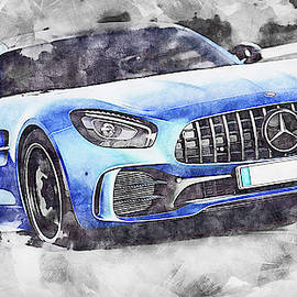 Mercedes Benz Amg Gtr - 81 by Andrea Mazzocchetti