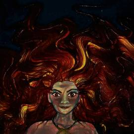 Mermaid Captures The Light by Joan Stratton