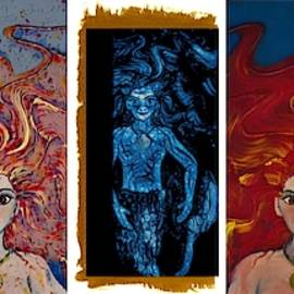 Mermaid Panel by Joan Stratton