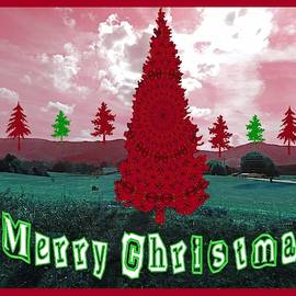 Merry Christmas - Country Christmas Trees by Marian Bell