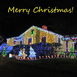 Merry Christmas Crazy Christmas Lights by Marian Bell