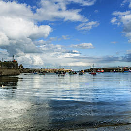 Mevagissey Harbour, Cornwall, UK. by Maggie Mccall