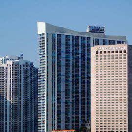 Miami Skyline - I I by Arlane Crump