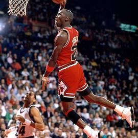 Michael Jordan Action Portrait by Jerry Wachter