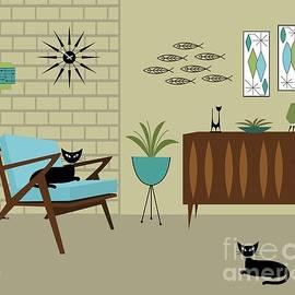 Mid Century Modern Room by Donna Mibus