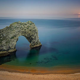 Midnight at Durdle Door by George Afostovremea