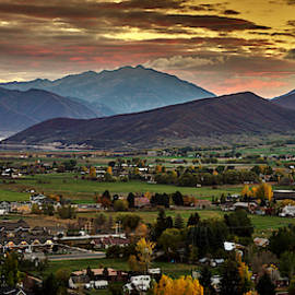 Midway City Sunset - Midway Utah by TL Mair