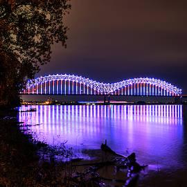 Mighty Lights Of The Hernando Desoto Bridge 001 by Lance Vaughn