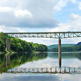 Milford Bridge over the Delaware River by Marilyn DeBlock
