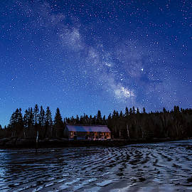 Milky Way Blue Hour At Smokehouse by Marty Saccone