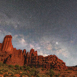 Milky Way Over Fisher Towers by Dan Norris