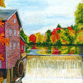 Mill in Autumn by Marcella Chapman