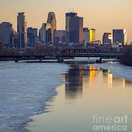 Minneapolis Skyline At Sunset 2 by Susan Rydberg