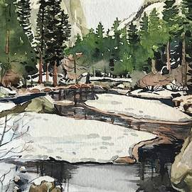 Mirror Lake Yosemite by Luisa Millicent
