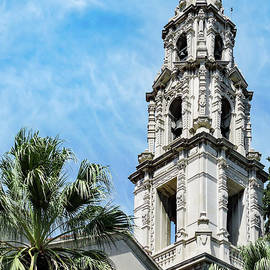 Mission Inn Area Church Tower by Norma Brandsberg