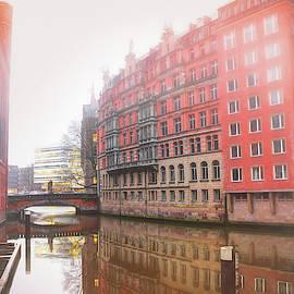 Misty City Canal Hamburg Germany  by Carol Japp