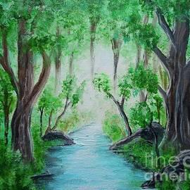 Misty Forest Stream by Jacqueline Athmann