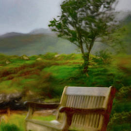 Misty Morning in the Rain Painting by Debra and Dave Vanderlaan