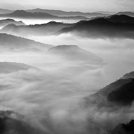 Misty Mountain Haze by Art Shack