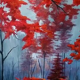 Misty Red Forest  by Danett Britt