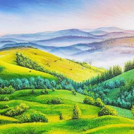 Misty Rolling Hills by Jessica T Hamilton