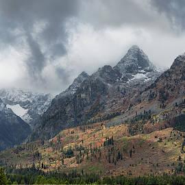 Misty Teton Peaks by Kathleen Bishop