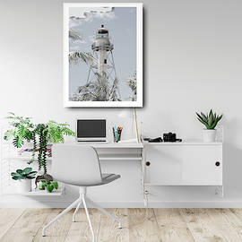 Mock Up Lighthouse In Home Office by Rosalie Scanlon