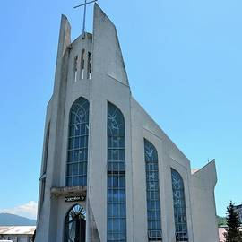 Modern architecture Catholic Church of the Holy Spirit Batumi Adjara Georgia by Imran Ahmed
