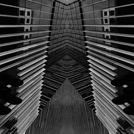 Modern Building Abstract by Jerry Abbott