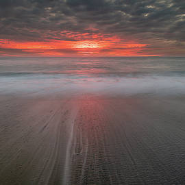 Molten Sky Over The Sea by Tim Bryan